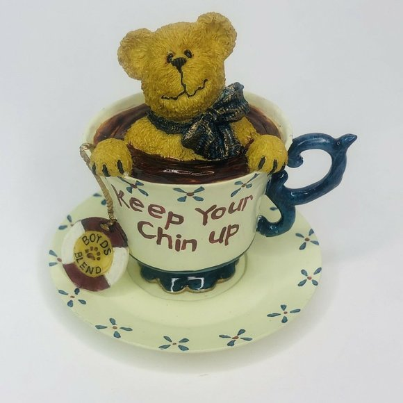 Boyds Bear Cheery Teabearie Keep Your Chin Up New